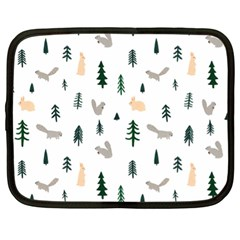 Squirrel Rabbit Tree Animals Snow Netbook Case (xl)