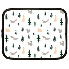 Squirrel Rabbit Tree Animals Snow Netbook Case (xxl)