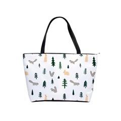 Squirrel Rabbit Tree Animals Snow Shoulder Handbags