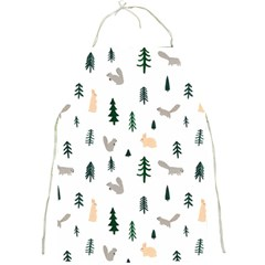 Squirrel Rabbit Tree Animals Snow Full Print Aprons