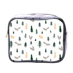 Squirrel Rabbit Tree Animals Snow Mini Toiletries Bags