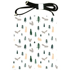 Squirrel Rabbit Tree Animals Snow Shoulder Sling Bags