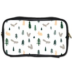 Squirrel Rabbit Tree Animals Snow Toiletries Bags 2 Side