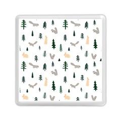 Squirrel Rabbit Tree Animals Snow Memory Card Reader (square)