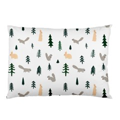 Squirrel Rabbit Tree Animals Snow Pillow Case (two Sides)