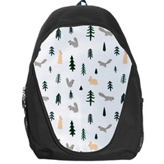 Squirrel Rabbit Tree Animals Snow Backpack Bag