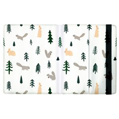 Squirrel Rabbit Tree Animals Snow Apple Ipad 2 Flip Case