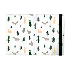 Squirrel Rabbit Tree Animals Snow Apple Ipad Mini Flip Case