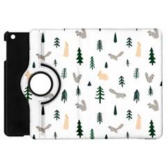 Squirrel Rabbit Tree Animals Snow Apple Ipad Mini Flip 360 Case