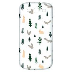 Squirrel Rabbit Tree Animals Snow Samsung Galaxy S3 S Iii Classic Hardshell Back Case
