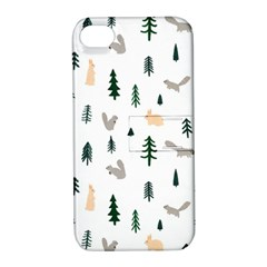 Squirrel Rabbit Tree Animals Snow Apple Iphone 4/4s Hardshell Case With Stand by Alisyart