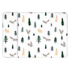 Squirrel Rabbit Tree Animals Snow Samsung Galaxy Tab 8 9  P7300 Flip Case