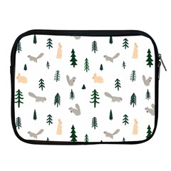 Squirrel Rabbit Tree Animals Snow Apple Ipad 2/3/4 Zipper Cases