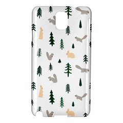 Squirrel Rabbit Tree Animals Snow Samsung Galaxy Note 3 N9005 Hardshell Case