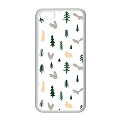 Squirrel Rabbit Tree Animals Snow Apple Iphone 5c Seamless Case (white)