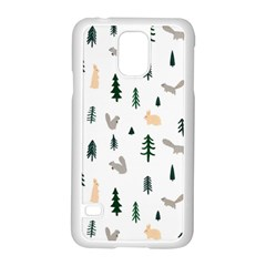 Squirrel Rabbit Tree Animals Snow Samsung Galaxy S5 Case (white)