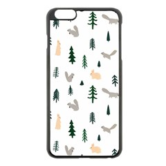 Squirrel Rabbit Tree Animals Snow Apple Iphone 6 Plus/6s Plus Black Enamel Case