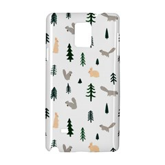 Squirrel Rabbit Tree Animals Snow Samsung Galaxy Note 4 Hardshell Case