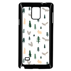 Squirrel Rabbit Tree Animals Snow Samsung Galaxy Note 4 Case (black)