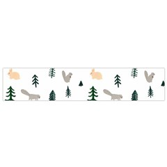Squirrel Rabbit Tree Animals Snow Small Flano Scarf