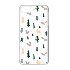 Squirrel Rabbit Tree Animals Snow Apple Iphone 7 Plus Seamless Case (white)