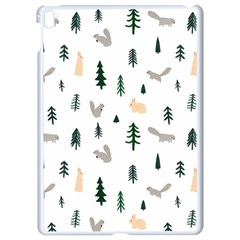 Squirrel Rabbit Tree Animals Snow Apple Ipad Pro 9 7   White Seamless Case