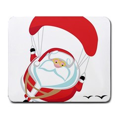 Skydiving Christmas Santa Claus Large Mousepads
