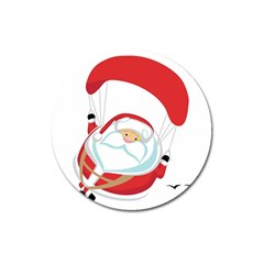 Skydiving Christmas Santa Claus Magnet 3  (round) by Alisyart