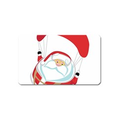 Skydiving Christmas Santa Claus Magnet (name Card) by Alisyart