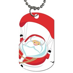 Skydiving Christmas Santa Claus Dog Tag (one Side)
