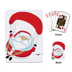 Skydiving Christmas Santa Claus Playing Card