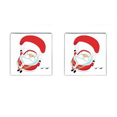 Skydiving Christmas Santa Claus Cufflinks (square)