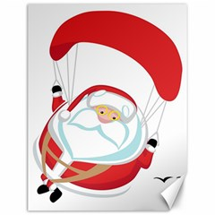 Skydiving Christmas Santa Claus Canvas 12  X 16