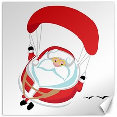 Skydiving Christmas Santa Claus Canvas 16  X 16   by Alisyart