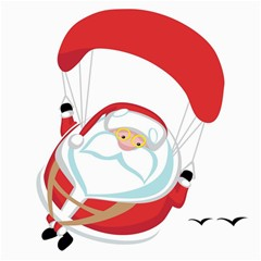 Skydiving Christmas Santa Claus Canvas 20  X 20