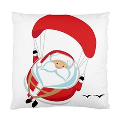 Skydiving Christmas Santa Claus Standard Cushion Case (one Side) by Alisyart
