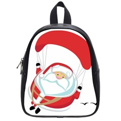 Skydiving Christmas Santa Claus School Bag (small) by Alisyart