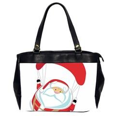 Skydiving Christmas Santa Claus Office Handbags (2 Sides)