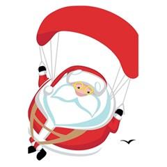 Skydiving Christmas Santa Claus 5 5  X 8 5  Notebooks