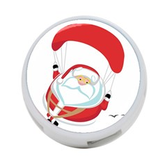 Skydiving Christmas Santa Claus 4 Port Usb Hub (one Side)
