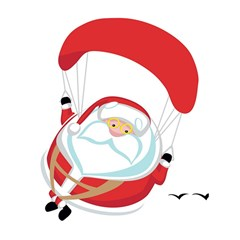 Skydiving Christmas Santa Claus Shower Curtain 60  X 72  (medium)