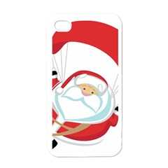 Skydiving Christmas Santa Claus Apple Iphone 4 Case (white)