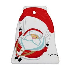 Skydiving Christmas Santa Claus Bell Ornament (two Sides)
