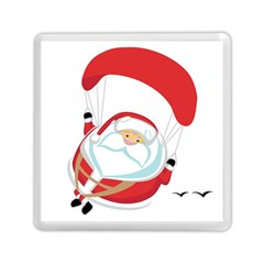 Skydiving Christmas Santa Claus Memory Card Reader (square)