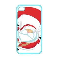 Skydiving Christmas Santa Claus Apple Iphone 4 Case (color)