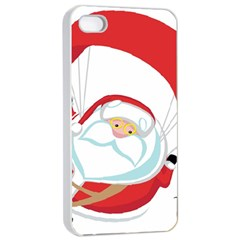 Skydiving Christmas Santa Claus Apple Iphone 4/4s Seamless Case (white)