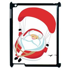 Skydiving Christmas Santa Claus Apple Ipad 2 Case (black)