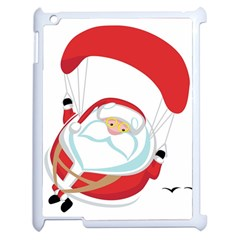 Skydiving Christmas Santa Claus Apple Ipad 2 Case (white)