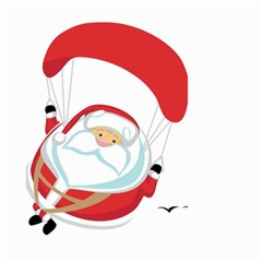 Skydiving Christmas Santa Claus Large Garden Flag (two Sides)