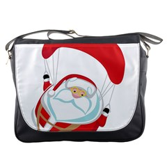 Skydiving Christmas Santa Claus Messenger Bags